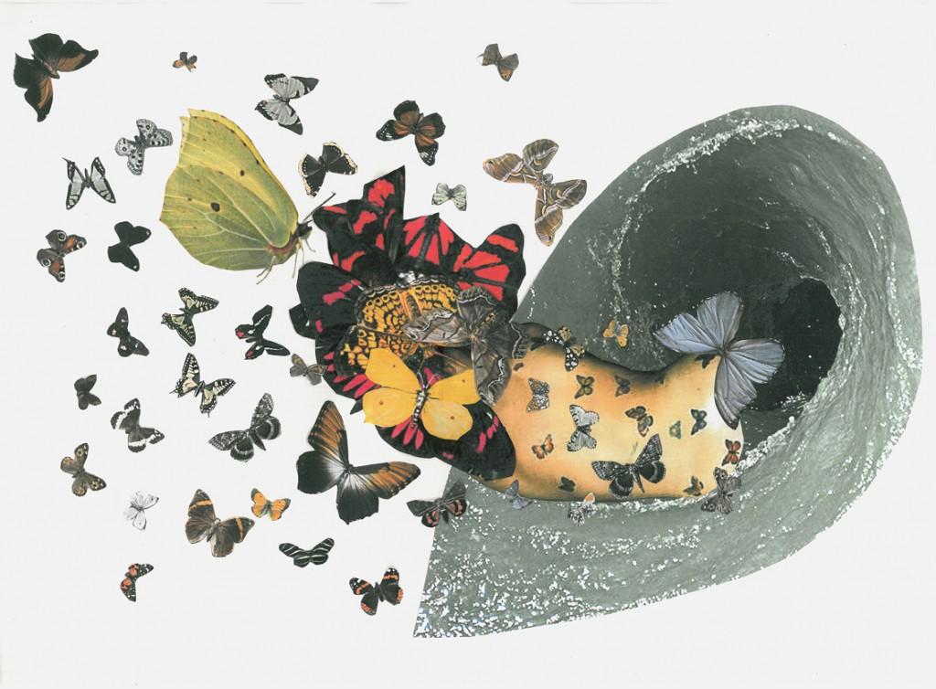 collage, omslag till Ord&Bild nr3-4, 2014